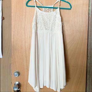 Boho white mini dress